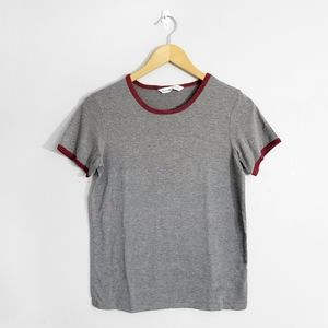 5/$25 🌿 BLUENOTES Grey Red Ringer Tee
